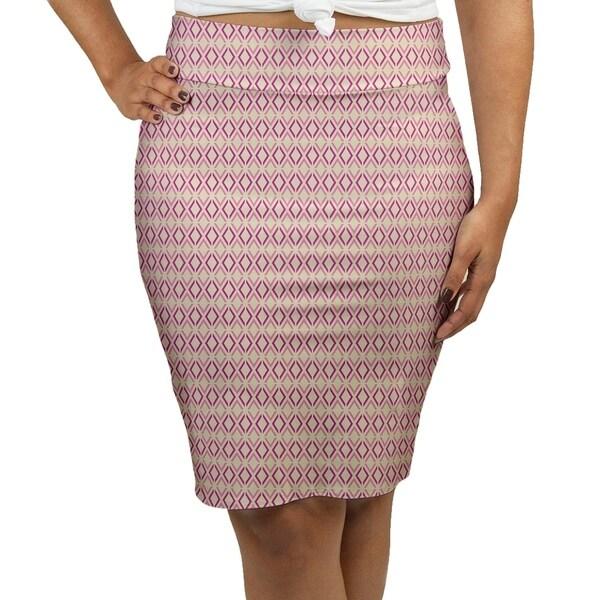 f8d23eba1 Katelyn Elizabeth Mauve Arrow Diamonds Women's Pencil Skirt - Fasheen