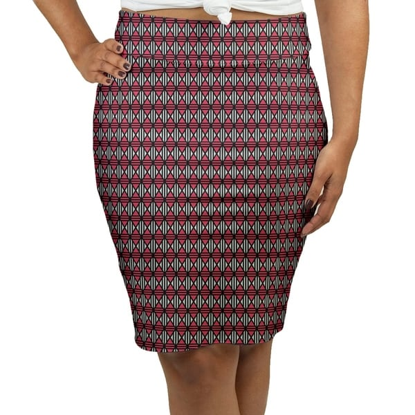 a26861619 Shop Katelyn Elizabeth Black & Red Lined Diamonds Women's Pencil Skirt -  Fasheen - Free Shipping Today - Overstock.com - 27355204