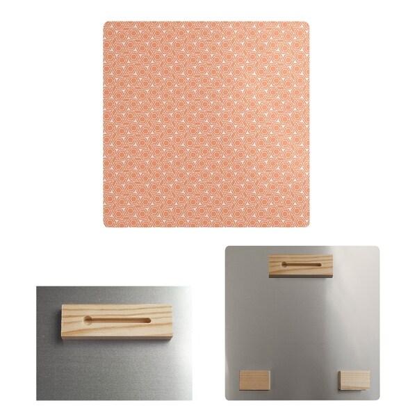 Katelyn Elizabeth Pastel Orange Hexagonal Lattice Metal Print
