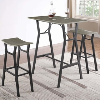 Modern Industrial Design Rectangular 3-piece Bar Table Set