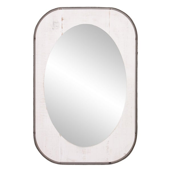 Patton Wall Decor 24x36 Oval Wood and Metal Wall Accent Mirror