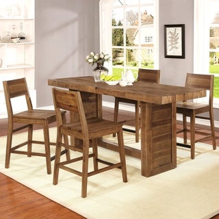 Modern Reclaimed Natural Wood Counter-height Dining Set