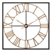 "Patton Wall Decor 36"" Square Metal Cut Out Roman Numeral Wall Clock"
