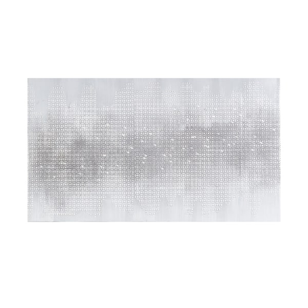 Shop Black Friday Deals On Madison Park Silver Trellis Heavy Textured Canvas With Glitter Embellishment On Sale Overstock 27358343