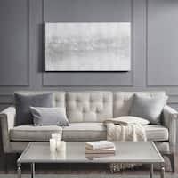 Madison Park Silver Trellis Glitter-Embellished Heavy-textured Canvas Artwork