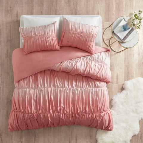 Intelligent Design Josie Ombre and Ruched Duvet Cover Set 2-Color Option