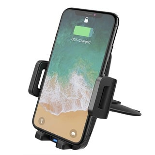 Mpow CD Slot Car Mount Qi Fast Wireless Phone Holder 3 Charging Powers (10W, 7.5W and 5W)