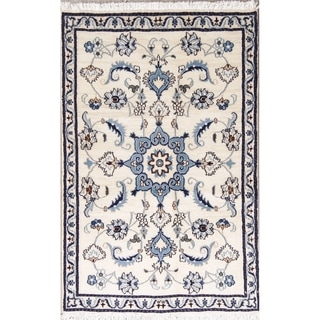 """Nain Floral Hand Knotted Wool Persian Area Rug - 4'7"""" x 2'11"""""""