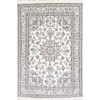 "Nain Floral & Botanical Hand Knotted Wool Persian Area Rug - 7'9"" x 5'4"""