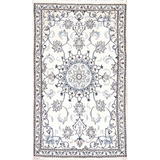 """Nain Floral Hand Knotted Wool Persian Area Rug - 4'8"""" x 2'10"""""""