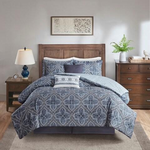Harbor House Nulki Blue 6 Piece Cotton Comforter Set