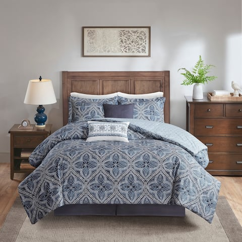 Harbor House Nulki Blue 6 Piece Cotton Comforter Set