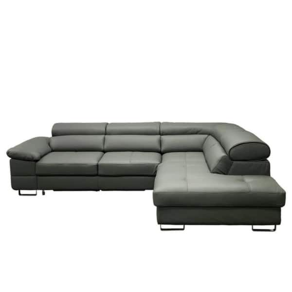 Strange Shop Costa Leather Sectional Sleeper Sofa Right Corner Machost Co Dining Chair Design Ideas Machostcouk