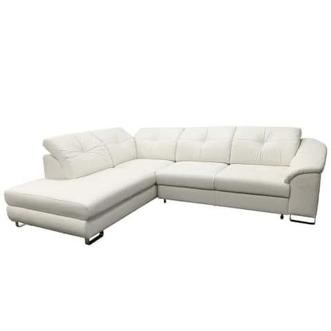 EGO Leather Sectional Sleeper Sofa, Left Corner