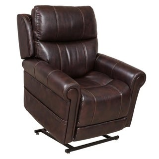 Boone Brown Power Lift Chair Recliner with Power Headrest