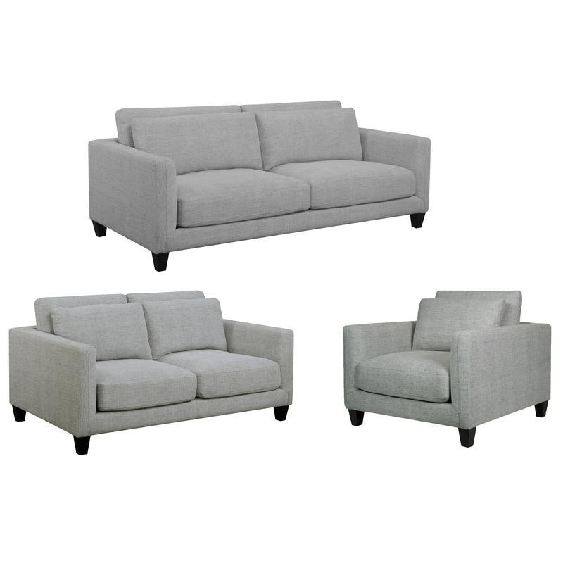 Excellent Brayden Light Gray Mid Century Modern Sofa Loveseat And Chair Gmtry Best Dining Table And Chair Ideas Images Gmtryco