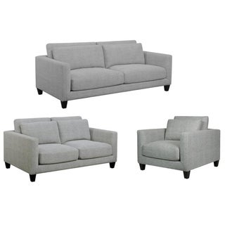 Brayden Light Gray Mid Century Modern Sofa, Loveseat and Chair