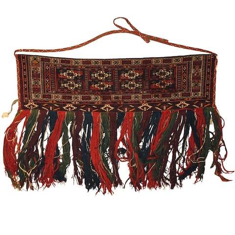 Handmade One-of-a-Kind Turkoman Jhallar (Afghanistan) - 4' x 2'5