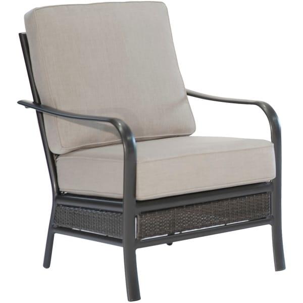 Hanover Oakmont Commercial-Grade Aluminum/Woven Club Chair with Plush Sunbrella Cushions