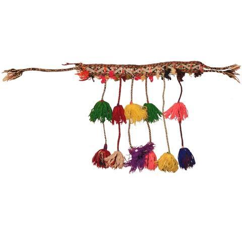 Handmade One-of-a-Kind Balouchi Jhallar (Afghanistan) - 4' x 1'9