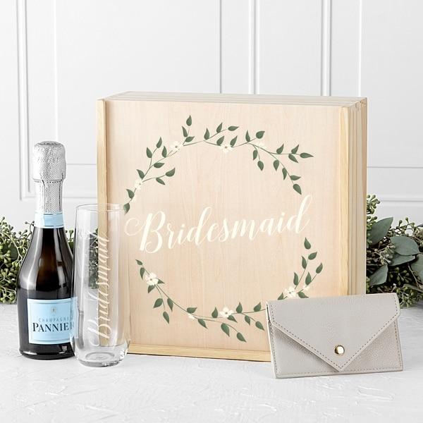 Floral Bridesmaid, Maid of Honor, Matron of Honor Gift Box Sets - N/A