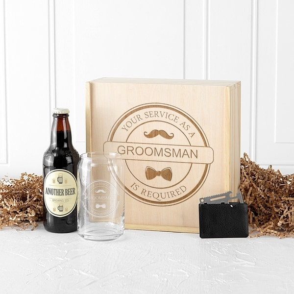 Groomsman and Best Man Craft Beer Gift Box Sets - N/A
