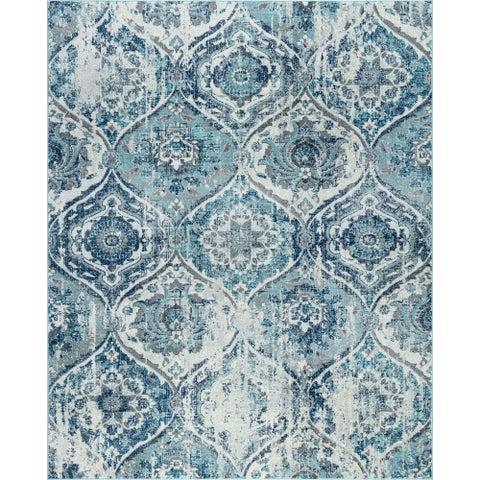 Alise Rugs Jade Transitional Geometric Area Rug