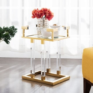 Grafton Acrylic Side Table, Gold