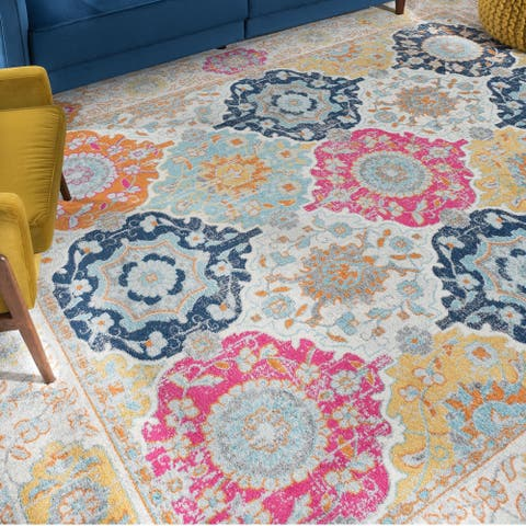 Porch & Den Eberly Transitional Border Area Rug