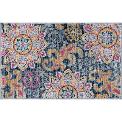 Porch & Den Unger Transitional Floral Area Rug