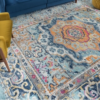 The Curated Nomad Rosen Transitional Medallion Area Rug