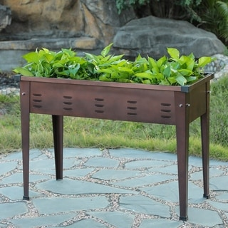 49.5in Metal Rectangular Raised Garden Planter