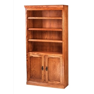 Mission Bookcase 36W X 72H X 13D w/ 30H Lower Doors