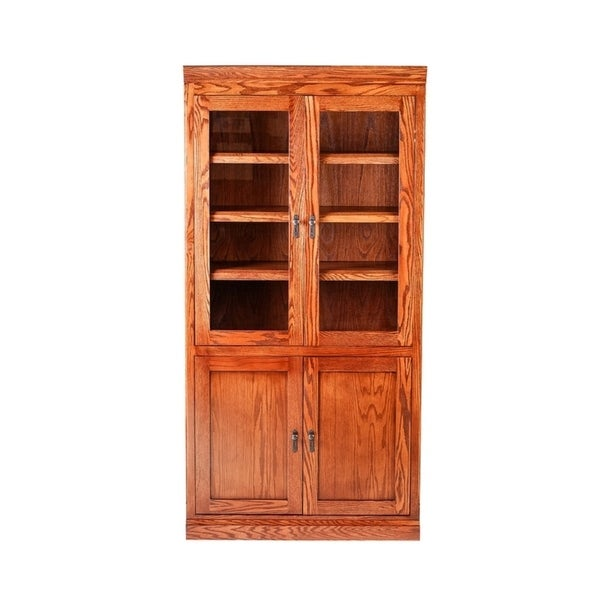 Mission Bookcase w/ Full Glass Doors 36W X 72H X 18D. Opens flyout.