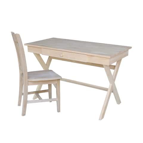 Cross Leg Desk With Chair