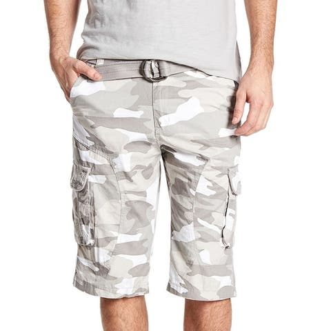 Xray Jeans Mens Belted All Season Casual Cargo Shorts