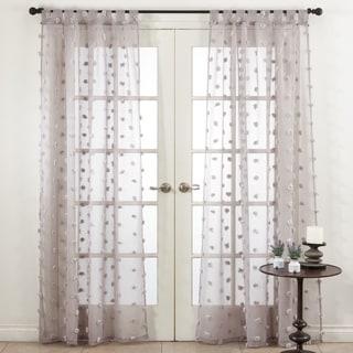 Saro Lifestyle Pom Pom Window Curtains