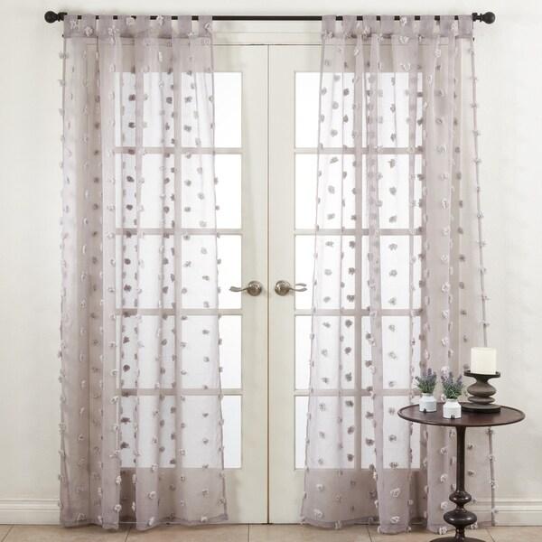 Saro Lifestyle Pom Pom Window Curtains. Opens flyout.