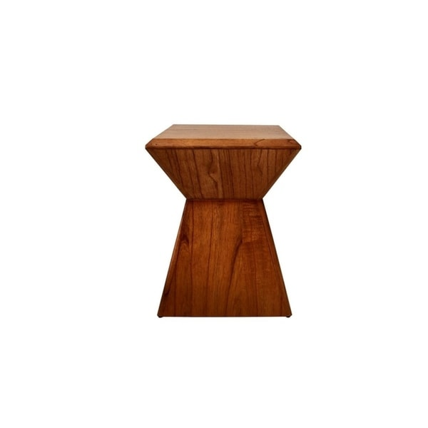 Shop 222 Fifth Pratt Solid Wood Accent Stool Free