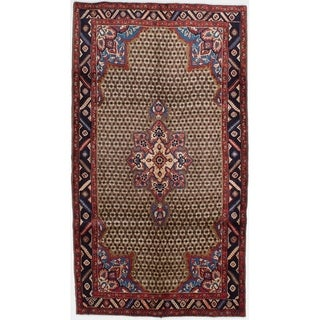 eCarpetGallery  Hand-knotted Koliai Brown Wool Rug - 5'1 x 9'3