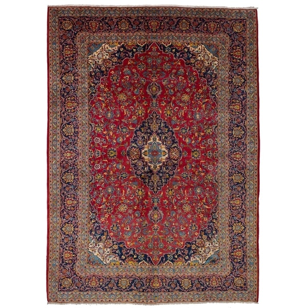 eCarpetGallery Hand-knotted Persian Vintage Red Wool Rug - 9'11 x 13'6