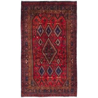 eCarpetGallery  Hand-knotted Darjazin Red Wool Rug - 4'4 x 7'5