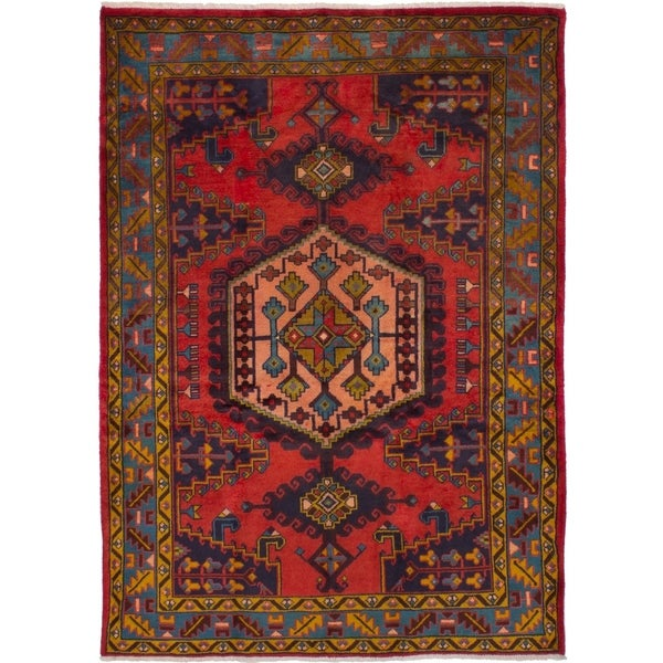 eCarpetGallery Hand-knotted Wiss Red Wool Rug - 4'11 x 7'0