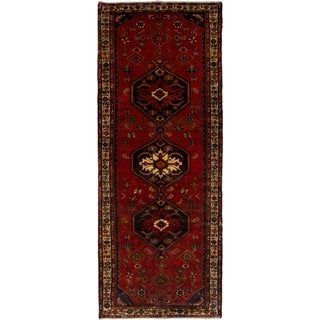 eCarpetGallery  Hand-knotted Ardabil Red Wool Rug - 3'10 x 9'11