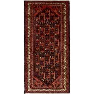 eCarpetGallery  Hand-knotted Persian Vintage Salmon Wool Rug - 4'10 x 9'11