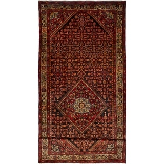 eCarpetGallery  Hand-knotted Hamadan Red Wool Rug - 4'11 x 12'11
