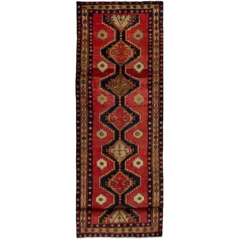 eCarpetGallery Hand-knotted Ardabil Red Wool Rug - 3'8 x 13'1