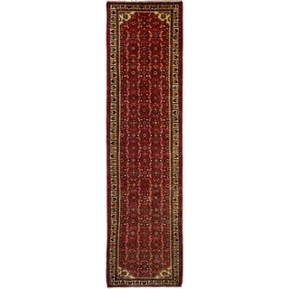 eCarpetGallery  Hand-knotted Hosseinabad Red Wool Rug - 2'6 x 9'11