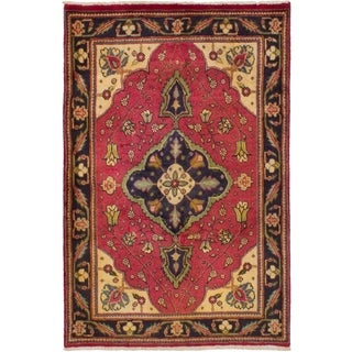 eCarpetGallery  Hand-knotted Tabriz Red Wool Rug - 3'2 x 4'11