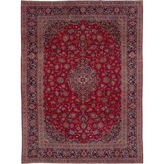 eCarpetGallery  Hand-knotted Kashan Red Wool Rug - 8'6 x 11'5